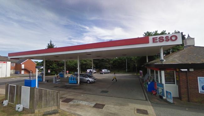 The Esso station at Stoney Cross