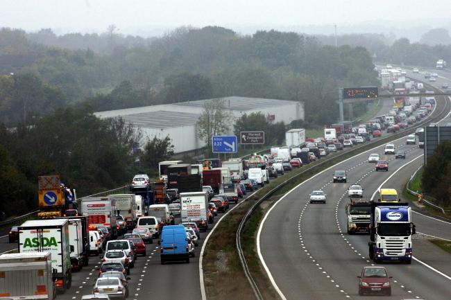 Photograph taken from Fareham Junction of the M27.
